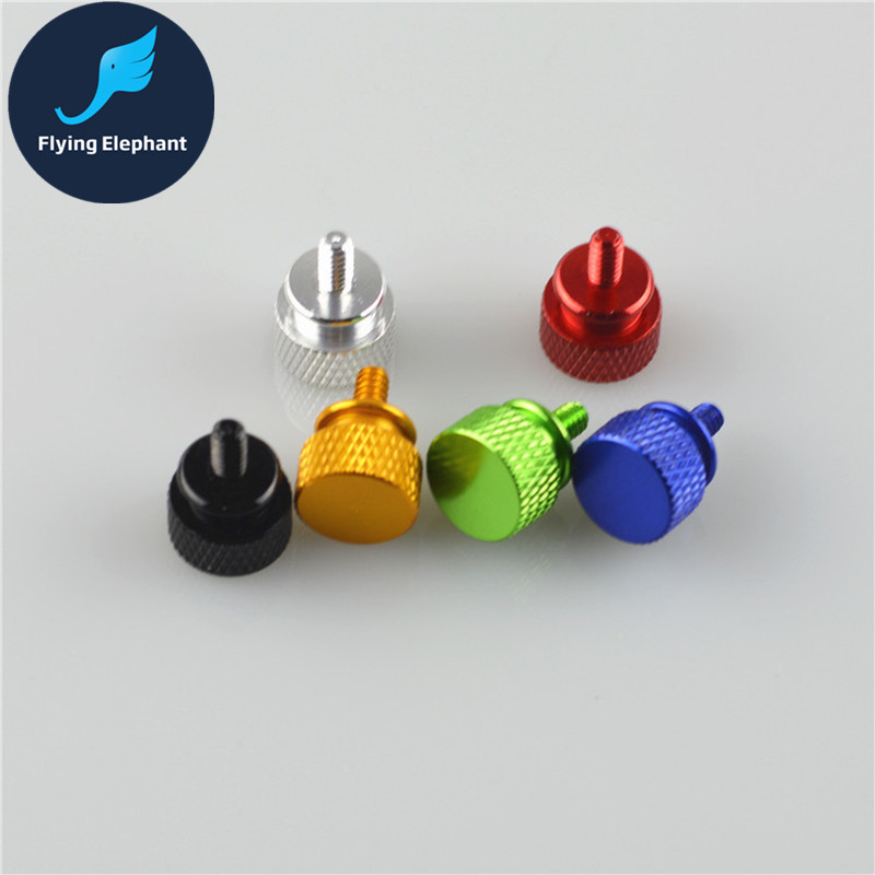 2 X Hand MOD Screws For Video Card Holder/Power/Chassis Side Panel Big Head 6 Colors Fold Screws For PC Computer Water Cooling