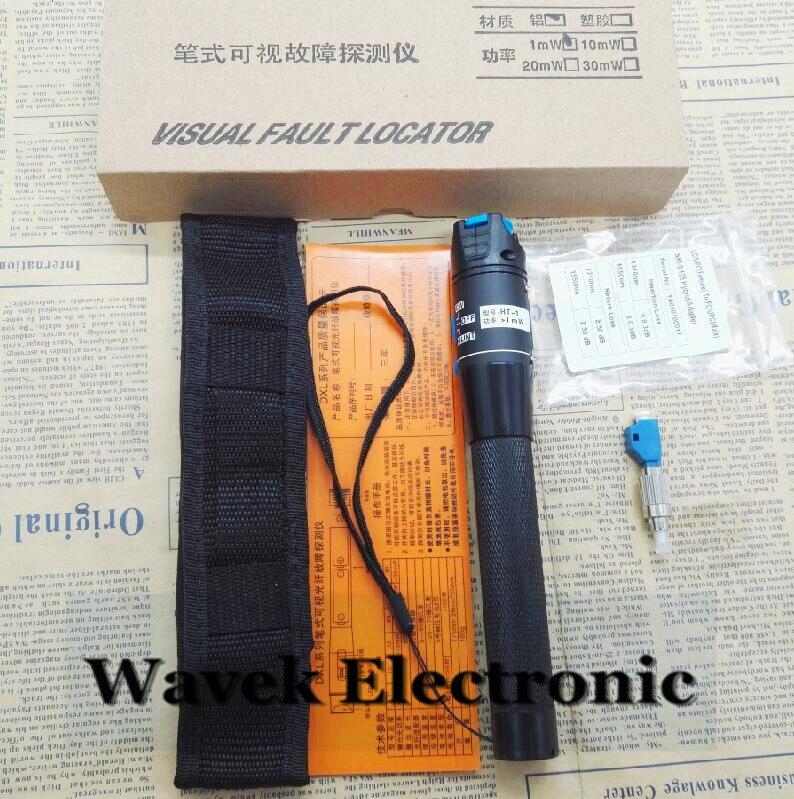 5 km 1 mW Visual Fault Locator Tipo Di Penna In Fibra Ottica Rosso Laser Rivelatore Tester FC Maschio a Femmina LC Adattatore LC/FC/SC/ST adattatore
