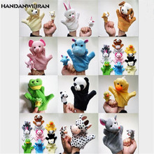 HANDANWEIRAN 10Sets/Bags Funny Hand Puppet+Finger/Sets Puppet Plush Cute Animal Toys Baby Child Hot 2019