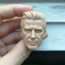 1/6 David Beckham Unpainted Head Carving Sculpt for 12''Action Figures Bodies цены
