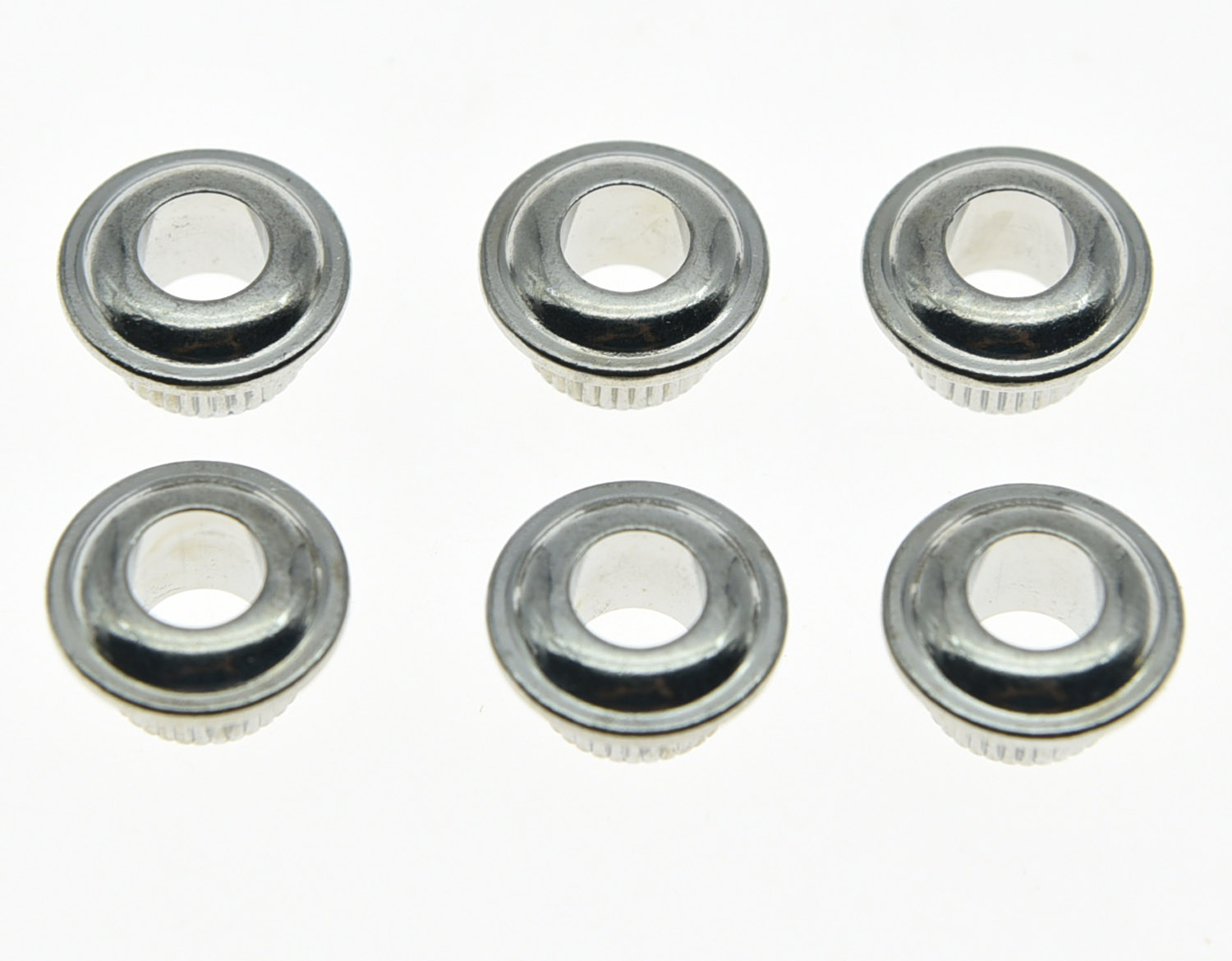 KAISH 30x Chrome 10mm Metal Vintage Guitar Tuner Conversion Bushings Adapter Ferrules ...