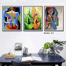 Ручная роспись Сексуальные Женщины Тела Холст Картины абстрактный Плакат Украшения Дома Стены  Лучший!