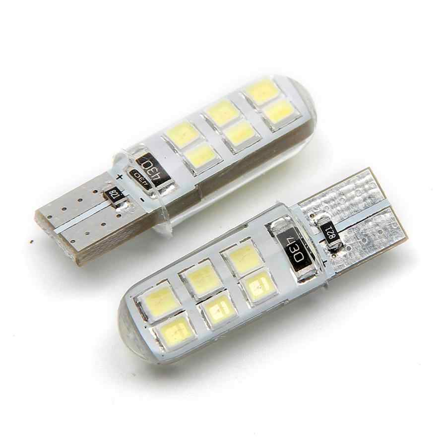 Auto diodo emissor de luz 2 Pcs T10 W5W 2835 12 SMD Wedge License Plate side transformar a luz do sinal À Prova D' Água feb13