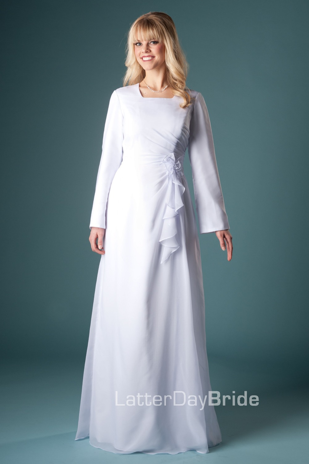 Popular temple dresses buy cheap temple dresses lots from for Cheap lds wedding dresses