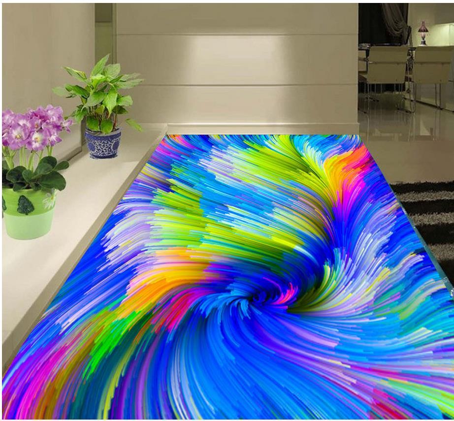 3d flooring Colorful swirl illusion of 3D stereoscopic floor 3d pvc ...