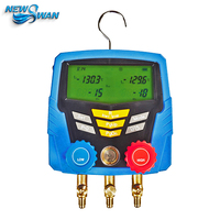 HS 350A Digital Refrigerant Pressure Gauge Manometer Automobile Air Condition Charging Scale Recycling Tool Machine Manifolds