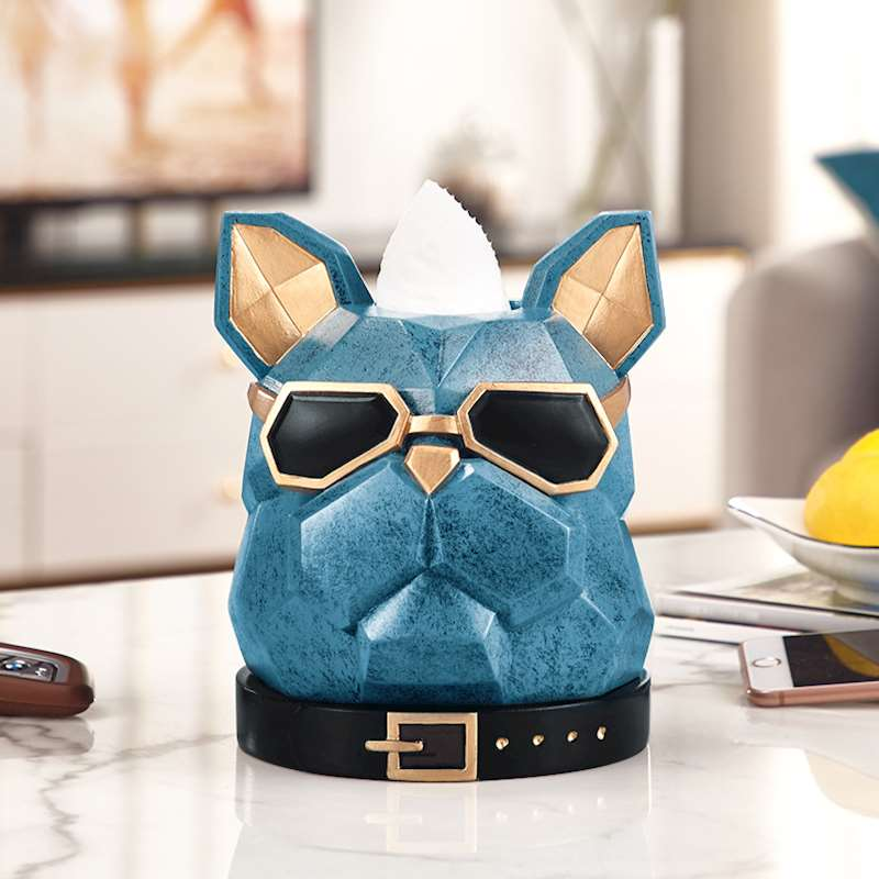 Creative Bulldog Head Tissue Holder Cassette Paper Holder Pumping Tray Living Room Coffee Table Decoration Dog Best GiftCreative Bulldog Head Tissue Holder Cassette Paper Holder Pumping Tray Living Room Coffee Table Decoration Dog Best Gift