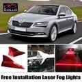 Для Skoda Superb B5 B6 B8 Седан/Хэтчбек/Бесплатная Установка солнечная Энергия Акульих Плавников Лазерная Противотуманная Фара/Автомобильные СВЕТОДИОДНЫЕ Сигнальные лампы