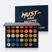 Beauty Glazed Colorful Matte Makeup Palettes Shimmer Eye Shadow Palette Glitter Profissional Maquiagem Cosmetics