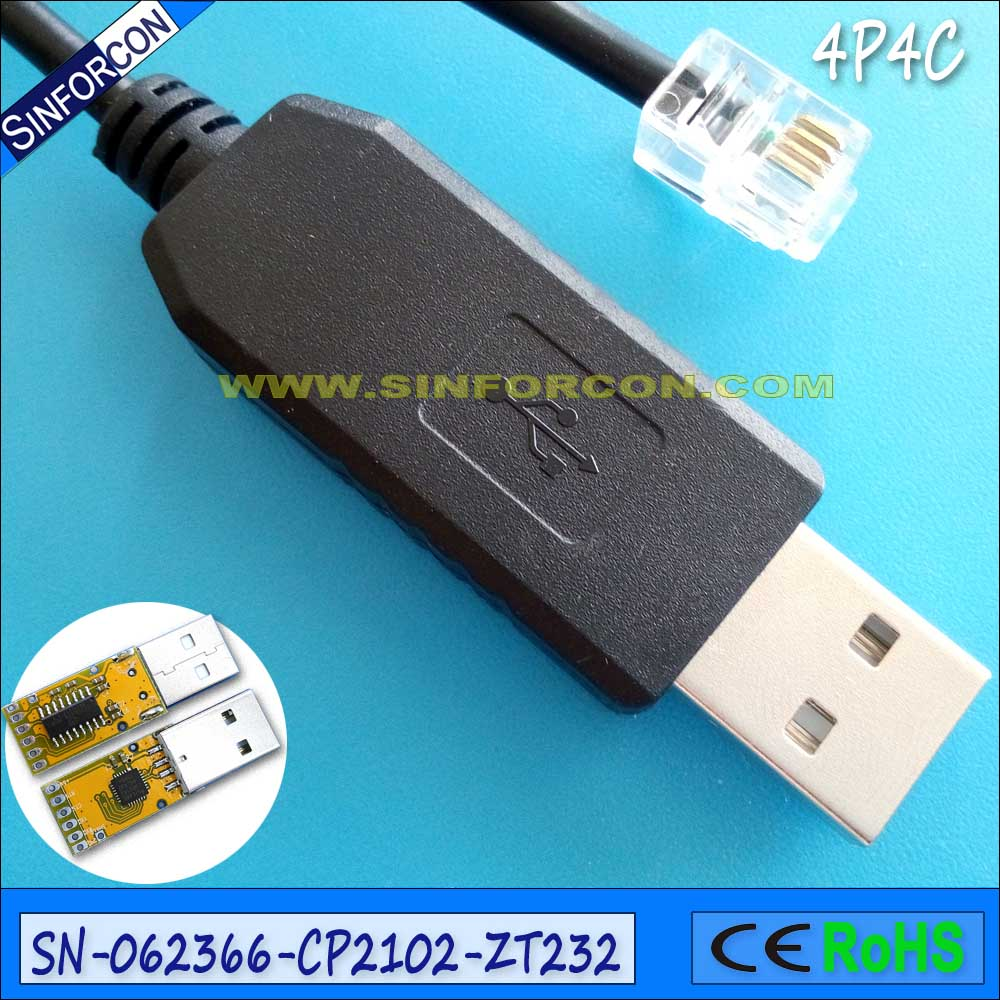 silabs cp2102 usb rs232 serial adapter cable with rj11 rj12 rj45 ...