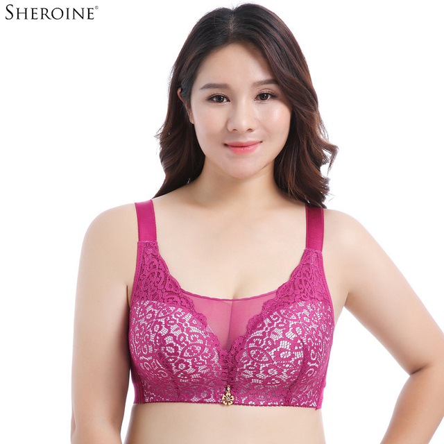 ae3a8fafb7 SHERONIE Sexy Lace Push Up Bras Women Bralette Brassiere Wire Free Full  Coverage Bra