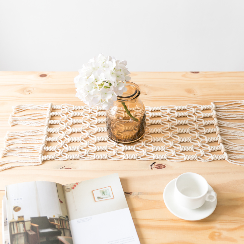 Table Runners Modern Minimalist Coffee Table Mat Macrame Woven Blanket Tablecloth Bed Flag Bed Scarf Table Runners For Wedding