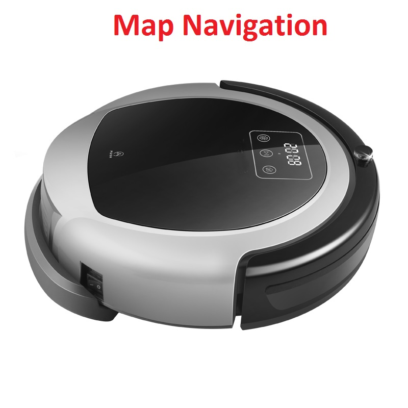 NEWEST 2D Map and Gyroscope Navigation Wet And Dry Aspiradora Robot Vacuum Cleaner B6009,Smart Memory,3000pa Suction, Water tank mpso and mga approaches for mobile robot navigation