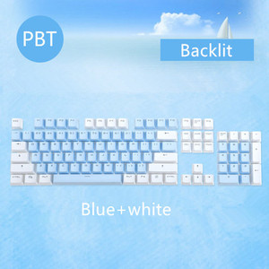 Image 2 - 104 Keys/set PBT keycaps Double shot Mechanical Keyboard Backlit Key Caps Pink Blue White For Ajazz AK35I And Other MX Switch