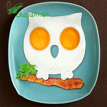 Creative Breakfast Silicone Mold Owl Fried Egg Mold Pancake Egg Ring Shaper Cooking Cake Tool Delicious for Children