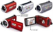 HD 8MP 720P Digital video camera with 3MP CMOS Sensor, Li-ion battery, 4 x digital zoom and 2.7″ screen, 3 pcs/lot free shipping