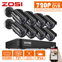ZOSI HD 8CH CCTV System HDMI 1080N DVR 8PCS 1280TVL IR Outdoor Video Surveillance Security Camera System 8 channel DVR Kit(China)