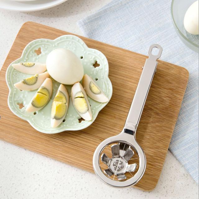 Stainless steel egg slicer and boiled eggs cutter
