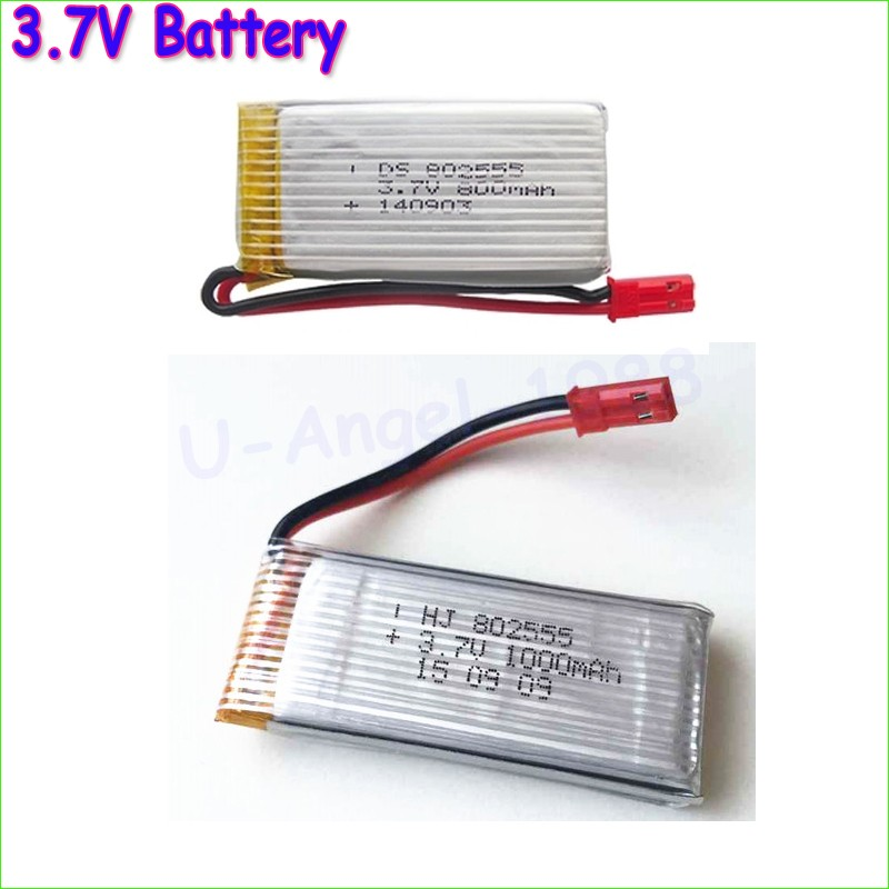 3pcs/lot <font><b>3.7V</b></font> <font><b>800mAh</b></font> 1000mah <font><b>Lipo</b></font> <font><b>Battery</b></font> For DFD F181 F187 F163 H12C SYMA X5 X5C WLtoys V931 Helicopter rc Quadcopter image