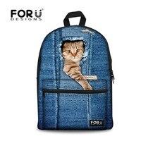 Cute Animal Backpack 3D Dog Cat Print Girls School Backpack Brand Designer Children Backpack For Kids