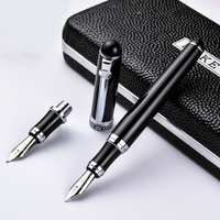 Duke High Quality Two Different Nib Fountain Pen Pure Stainless Medium Nib Artist Gift Pen For