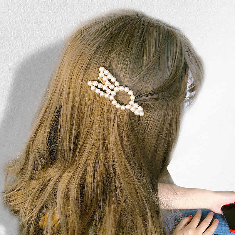Pearl Cute Rabbit Hair Pin Love Heart Crown Hairpin Bridal  Korean Style Headdress Wedding Hairband Comb Bobby Barrette Styling
