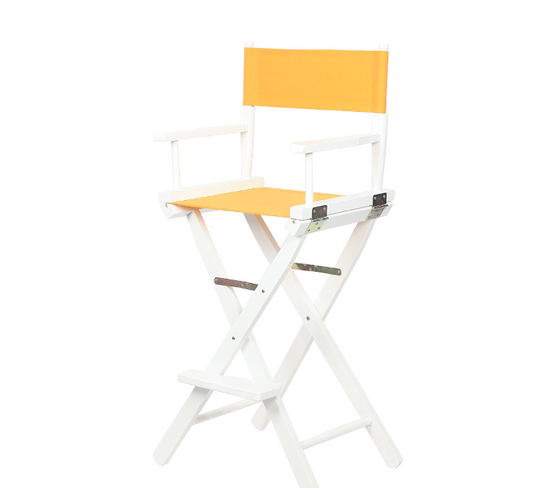 Solid Beach Wood Director Chair Natural Finish with Canvas Makeup Chair Furniture Folding Wooden Makeup Director Artist Chair makeup artist folding director s chair aluminum frame light weight golden color for indoor outdoor use director chair foldable