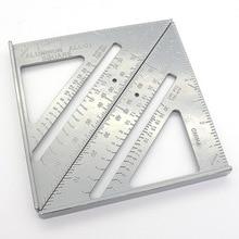 7 дюймов Скорость квадрат метрических Алюминий сплав Треугольники линейка квадратами для измерительные инструменты метрическая система угломер Деревообрабатывающие инструменты