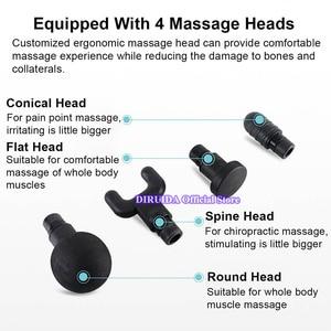 Image 5 - Yeni elektronik terapi vücut masajı silahlar 3 dosyaları 24V fırçasız LED masaj silahlar vücut kasları rahatlatıcı kabartma ağrıları ile kılıfı çanta
