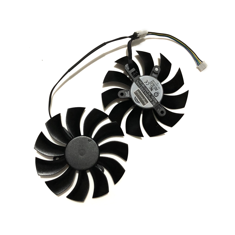 Купить с кэшбэком 2 Pcs/set 4Pin 85MM GTX 980Ti 950 GPU VGA Cooler Graphics Card Fan For EVGA GTX980TI GTX950 ACX2.0 Video Cards Cooling System