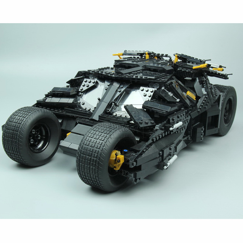 lepin 07060 Super Heroes Batman Dark Knight The Tumbler racing black armored vehicle Model Building Blocks Compatible legoe 6023 decool 7105 dc super heroes batman the tumbler building block brick tank toys for children boy game gift compatible lepin bela