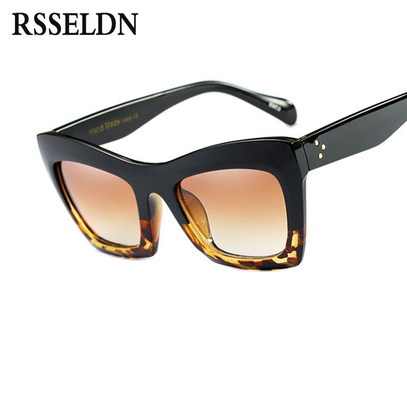 RSSELDN New Cat Eye Sunglasses Women Fashion Summer Style Square Sun glasses Vintage Classic Brand Designer Female Shades