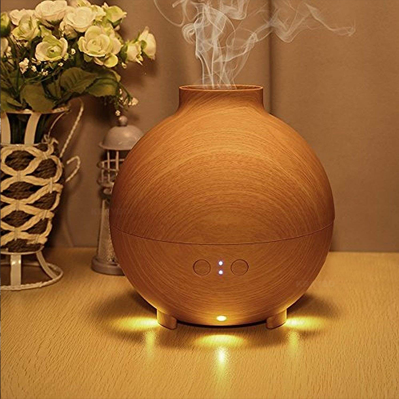 Hot Sale 600ml Ultrasonic Air Humidifier Electric Aroma Diffuser Mist Maker Aromatherapy Humidifier Household With LED Light