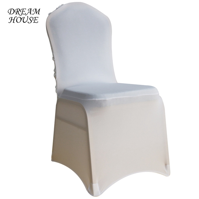 Dining Chair Covers In Store Lifetime Stacking Chairs Aliexpress Com Buy Spandex For Weddings Satin Rose Flower Cover Wedding Party Slipcover Home