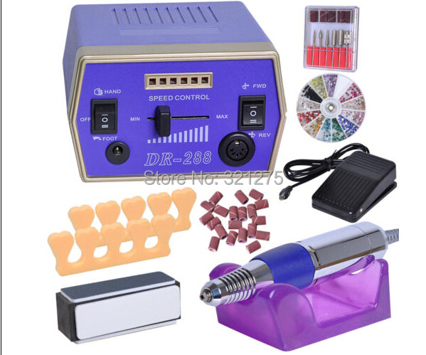 Electric Nail Drill Kit Machine Sanding Bands File Bits Manicure Art red nail tools electric nail drill machine 30000rpm nail art equipment manicure kit nail file drill bit sanding band accessory