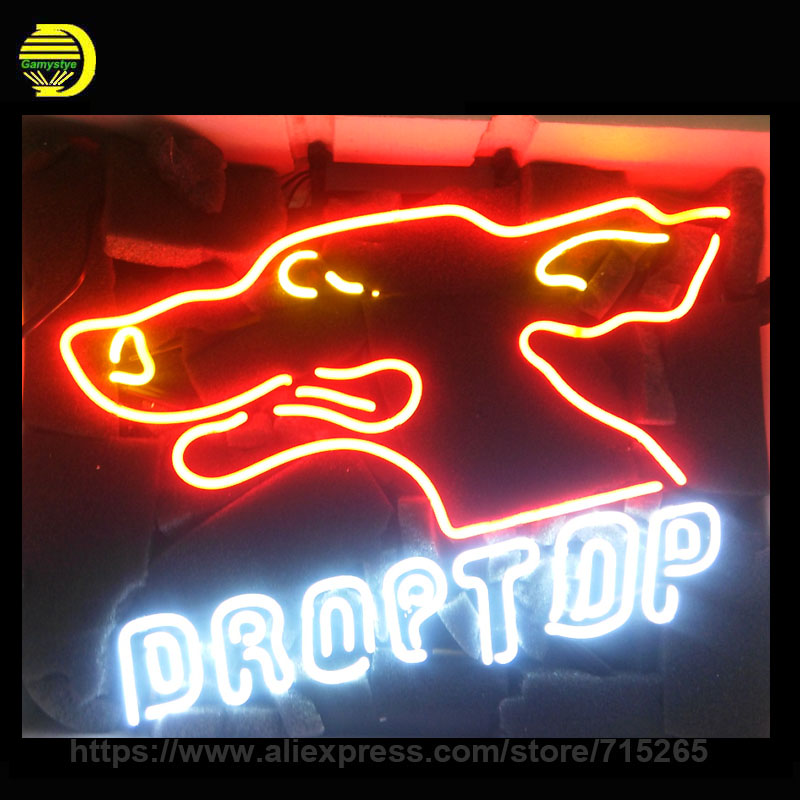 DROPTOP Neon Sign Heart Neon Light Room Neon Bulbs handmade Glass Tube Advertise Iconic Sign Lamps Store Display In Stock 19X15  wild at heart neon sign advertise custom logo neon bulb beer glass tube handcrafted neon glass tubes recreation room lamps 17x14