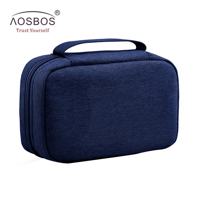 Aosbos Portable Travel Cosmetic Bag Women Casual Solid Hanging Toiletry Men Functional Waterproof Makeup Organizer