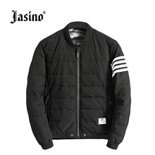 Jasino brand british casual men winter warm coats quilted jackets men parkas bomber jackets coats male quilted coats