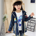 Kids boys & girls denim jacket 2017 new spring & autumn children clothing fashion outerwear big virgin 5/6/7/8/9/10/11/12 years