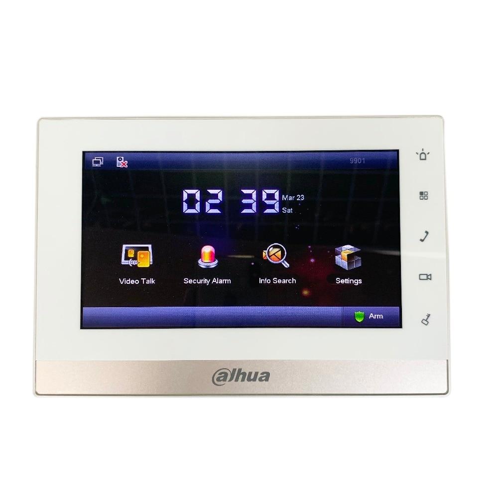 AHUA Multi-Langue CE VTH1550CH 7-pouces Tactile Moniteur D'intérieur, International verision, IP sonnette, vidéo Interphone, filaire sonnette