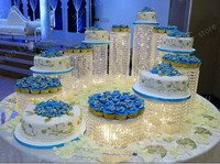 11 шт./лот Свадебные акрил K9 кристалл торт стенд на день рождения праздников