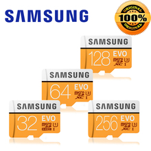 100% Original SAMSUNG Micro SD card 32GB 128GB 256gb u3 Memory Card EVO Plus 64GB Class10 TF Card C10 95MB/S MICRO SDXC UHS-1 4K
