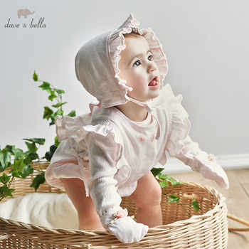 DBH10053 dave bella spring autumn newborn girls rompers infant toddler clothing sets baby cotton jumpsuits - DISCOUNT ITEM  50% OFF All Category