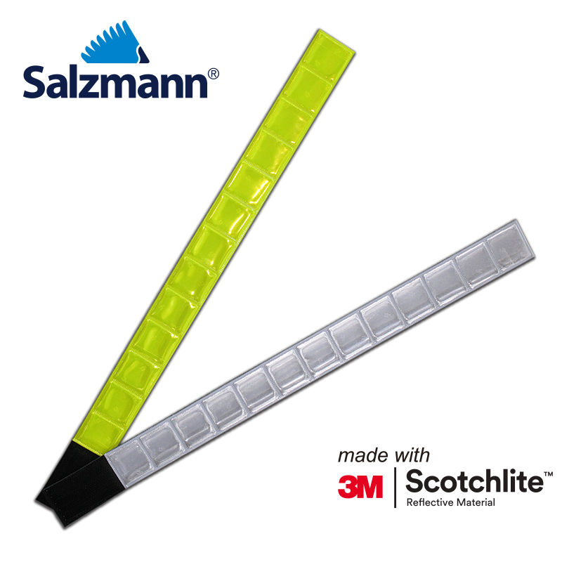 Salzmann Slap wrap armband fluo yellow or white 38cm length bracelet for outdoor activities