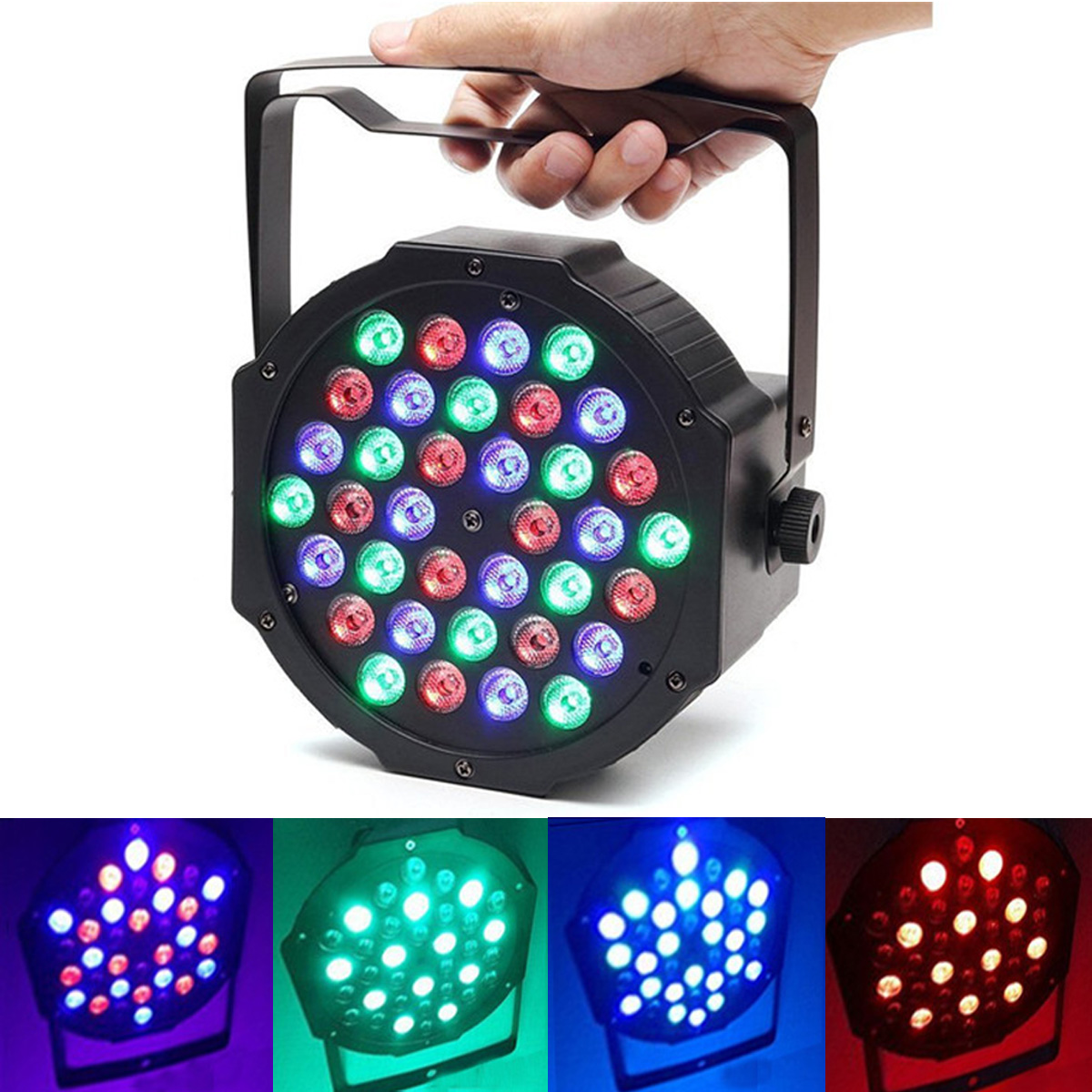 Stage Light 36W 36 LED RGB Par Light DMX512 Master Slave LED Flat DJ Equipment Controller Discos KTV Music Light djeco игра пары цифры