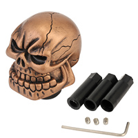 Neverland 7cm Universal Manual Gear Stick Shifter Lever Wicked Carved Resin Craft Skull Auto Car Gear Shift Knob Cool D45