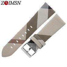 ZLIMSN New Watch Band Strap Women Sport Watches Belt Accessories 22mm 24mm Watchband camouflage Meter white все цены