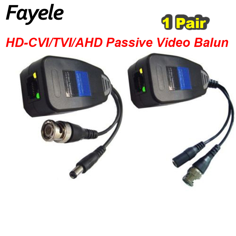 1CH 1 Pair HD CVI TVI AHD Passive Balun RJ45 CCTV Video Balun Transceiver Supply Power For CCTV Security CVI TVI AHD Camera bnc video balun passive transceiver coax cat5 camera utp cable coaxial adapter for 200 450m distance ahd hdcvi tvi camera