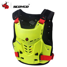 SCOYCO Motorcycle Armor Vest Motorcycle Protection Motorbike Chest Protector Armor Motocross Racing Vest Protective Gear M-XL(China)