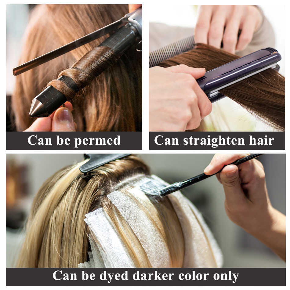 """Isheeny 14 """"18"""" 22 """"clipe em um pedaço de cabelo brasileiro clipes tic tac 5 clipes de cabelo remy parte reta grampo extensões de cabelo humano"""